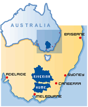 hume and riverina area map